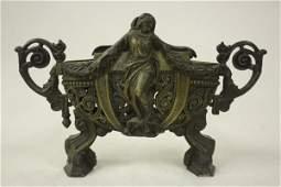 685 Art Nouveau figural bronze jardiniere