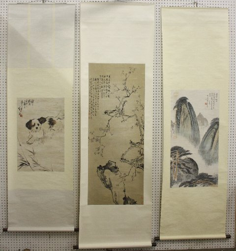 916: Three Chinese scrolls Three Chinese scrolls