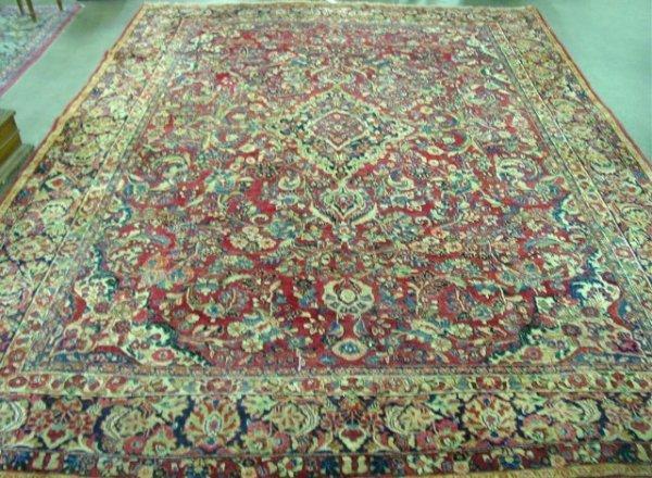 3: Sarouk rug Fair condition.