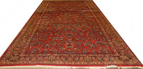5: Red Sarouk rug Small patch.