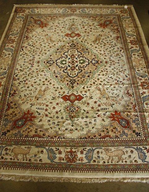 6: Tabriz ivory rug