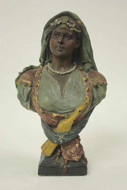 "13: Terracotta bust of ""Arab Woman"""