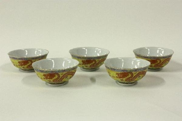 17: 5 Chinese porcelain bowls