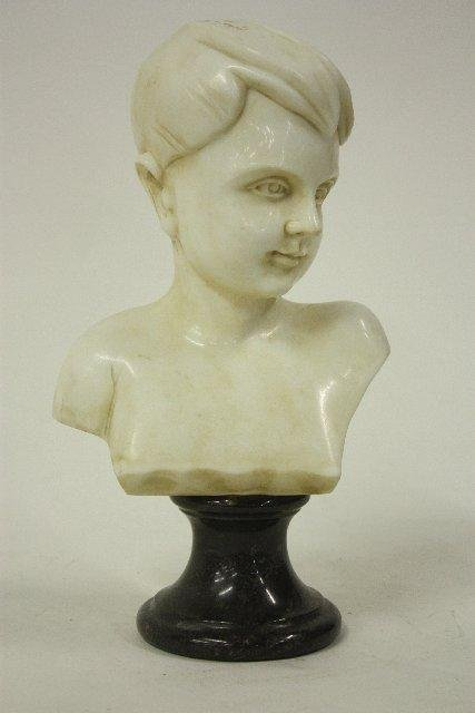 "20: Marble bust of ""Boy"""