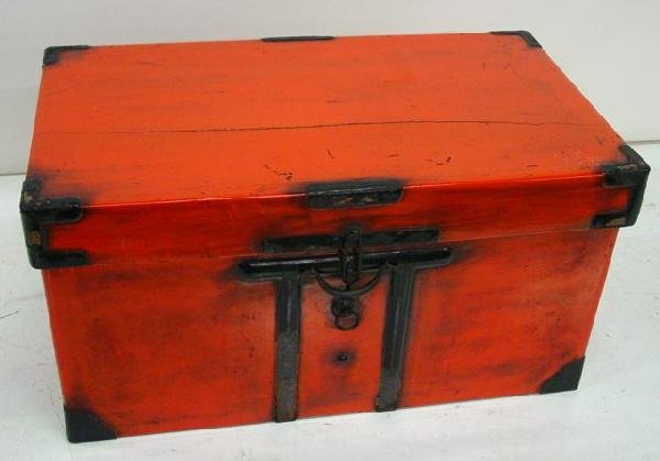 22: Red Chinese trunk