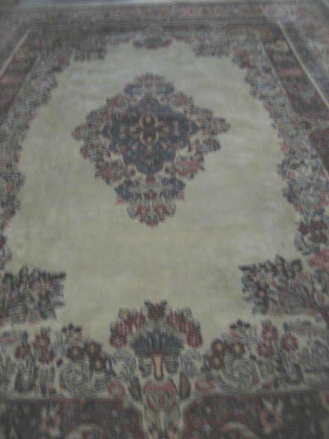 1A: Ivory background handmade Sarouk rug - 2