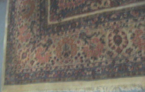 1A: Ivory background handmade Sarouk rug - 3