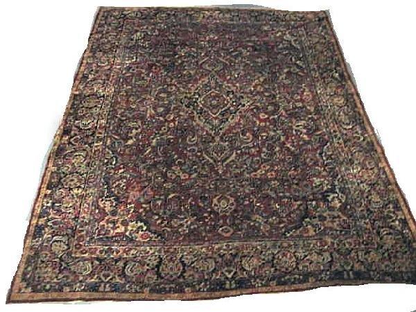 2A: Red Sarouk rug