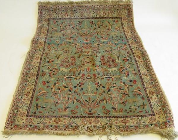6: Antique Tabriz silk & wool rug