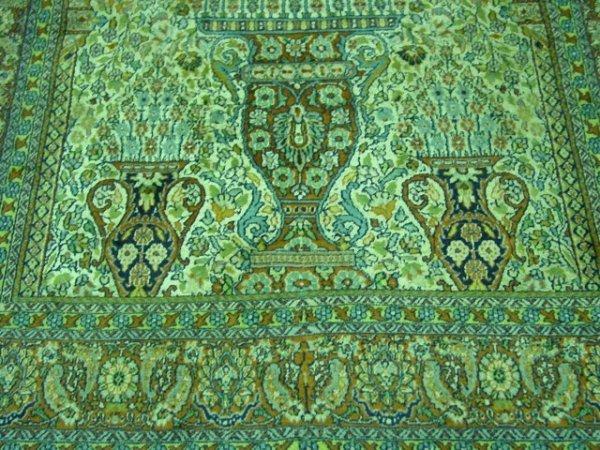 8: Mid-late 20th c. Ivory silk & wool handmade carpet - 2