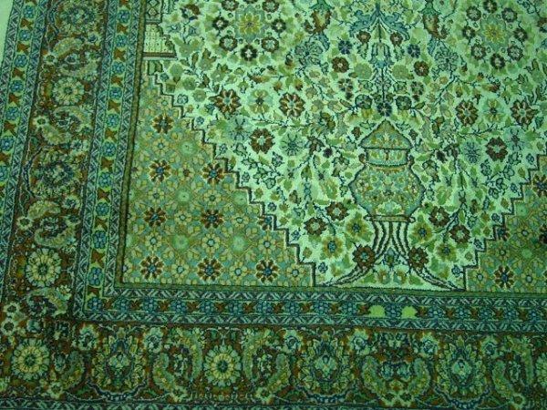 8: Mid-late 20th c. Ivory silk & wool handmade carpet - 3