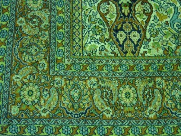 8: Mid-late 20th c. Ivory silk & wool handmade carpet - 4
