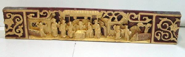 9: Single figural carved panel