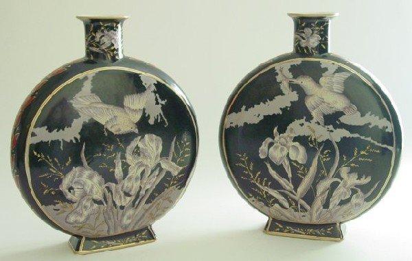 10: Pair Chinese porcelain vases