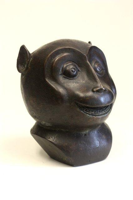 "19: Old Chinese bronze ""Monkey Head"""