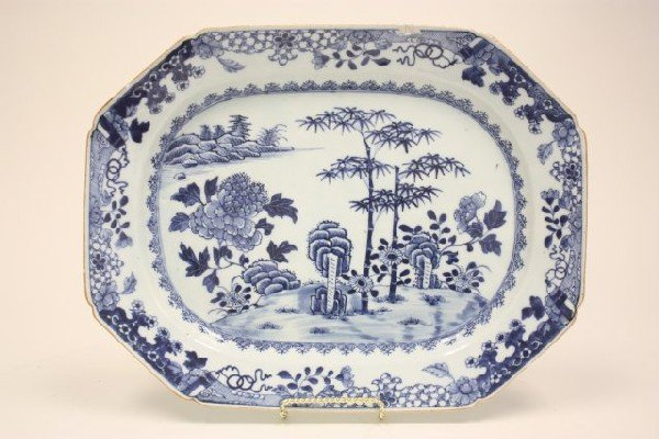 21: 20th c. Chinese Blue & white.platter