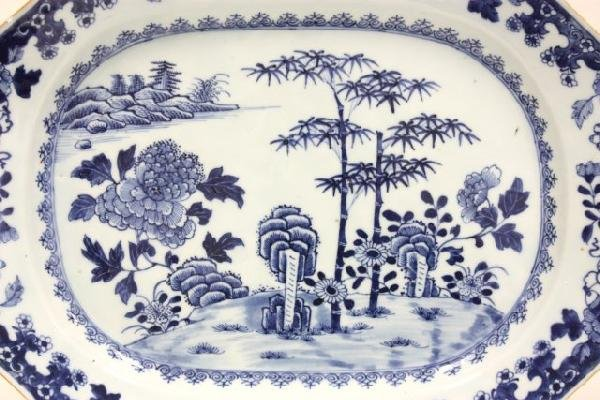 21: 20th c. Chinese Blue & white.platter - 2