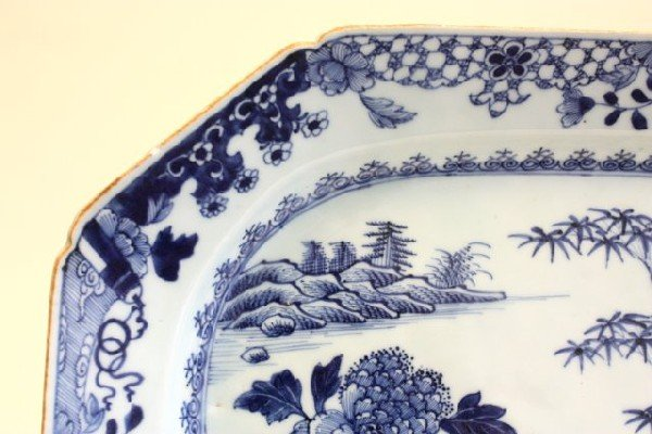 21: 20th c. Chinese Blue & white.platter - 3