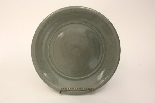 22: Chinese Celadon porcelain charger