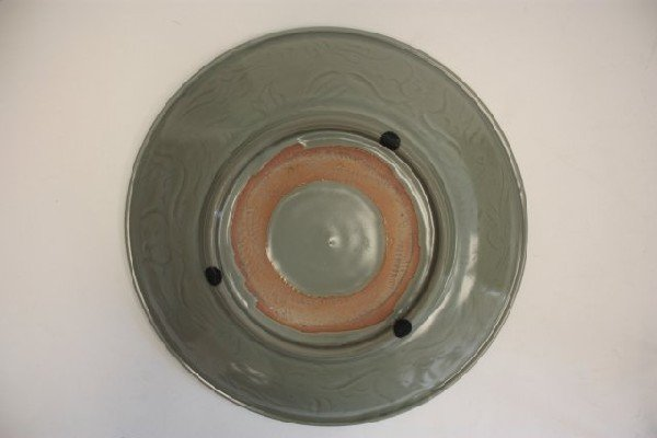 22: Chinese Celadon porcelain charger - 4