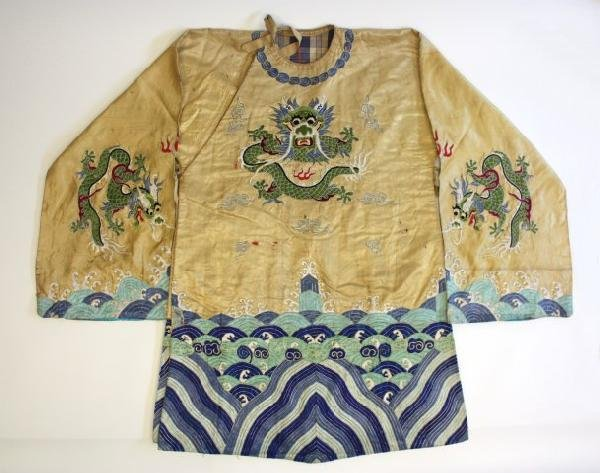 23: Old Chinese embroidered silk robe