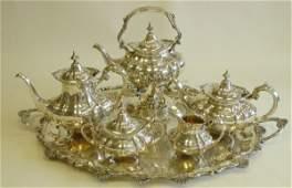 650 5 pcs sterling silver Reed  Barton teaset