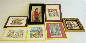 803: Group lot of assorted artwork