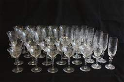 921: Group lot assorted crystal stemware