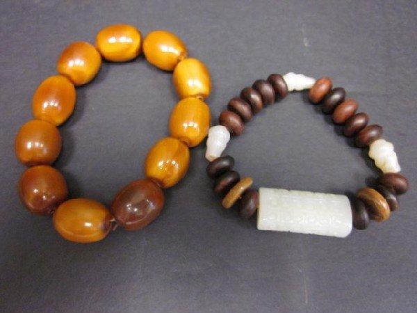 8A: 2 beaded bracelets