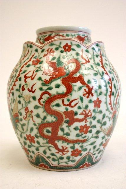 10A: Five color porcelain vase