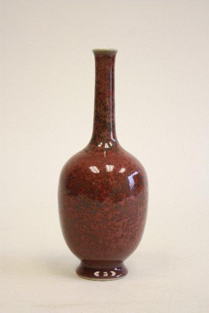 13A: Red porcelain vase