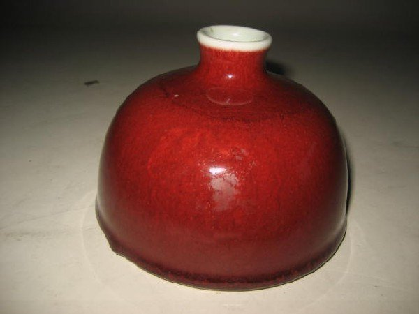 15A: Red porcelain inkwell