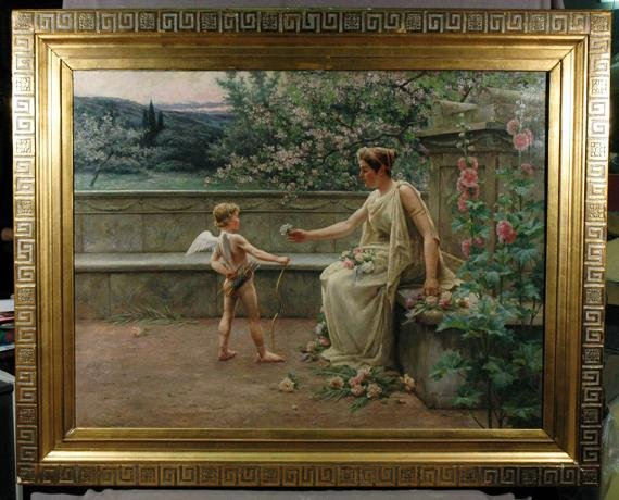 752: Oil painting on canvas signed Henri Houben