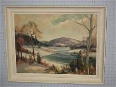 Oil painting on board signed Emile A. Gruppe