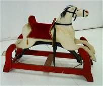 "648: American Folk Art child's ""Horse Rocker"""