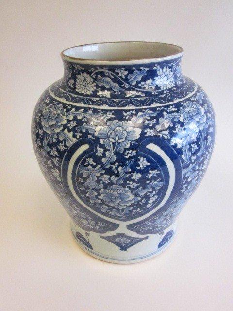 6: Antique Chinese blue & white jar