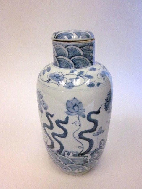 8: Chinese blue & white covered jar
