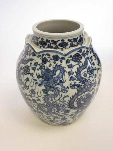 10: Chinese blue & white ginger jar