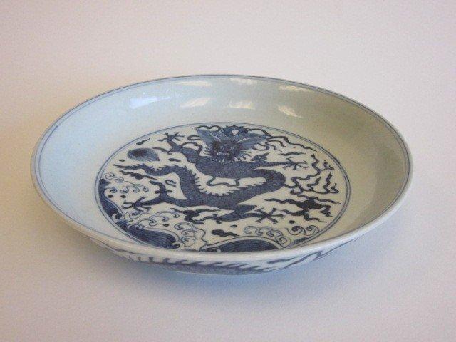 12: Blue & white Canton bowl