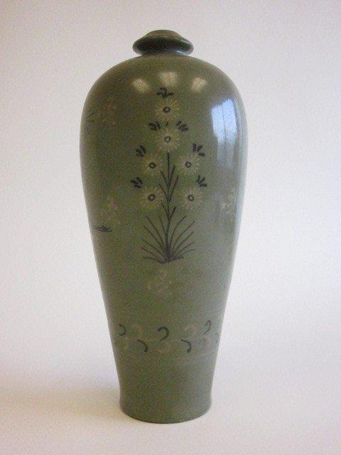 16: Korean celadon pottery vase