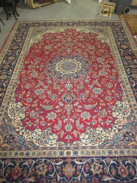 1003: Isphahan Persian carpet ca. 1950's