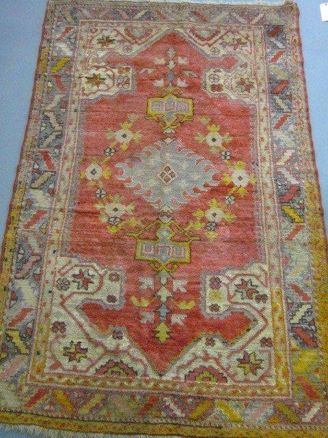 1003A: Antique Oushak rug