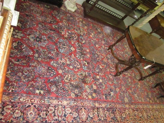 1004: Red Sarouk rug