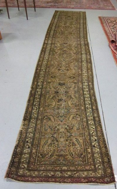 1004A: Antique Tabriz runner rug