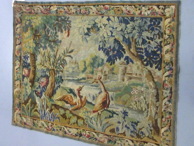 1008A: Antique French tapestry rug