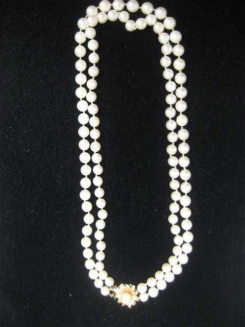 1504A: Double strand pearl necklace