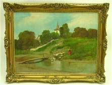 1872 Framed oil painting by Laszlo Neogrady