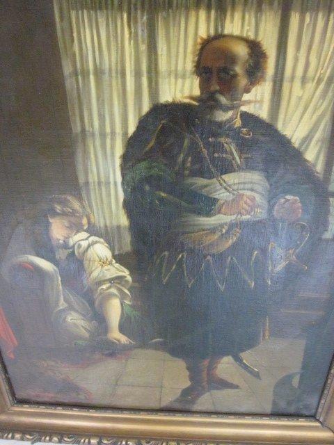 "1829: Oil painting ""Othello and Desdemona"" genre scene - 2"