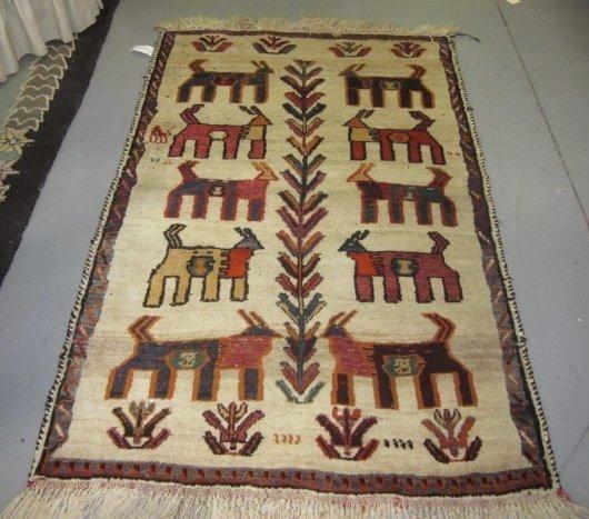 5: Persian Gabbeh rug