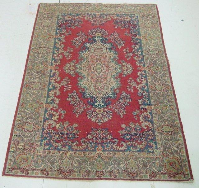 13: Handmade Kermin rose color rug